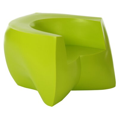 Frank Gehry Barrel Chair Upholstery: Green