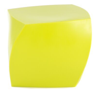 Frank Gehry Left Twist Cube Ottoman Upholstery: Yellow