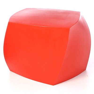 Frank Gehry Left Twist Cube Ottoman Upholstery: Red