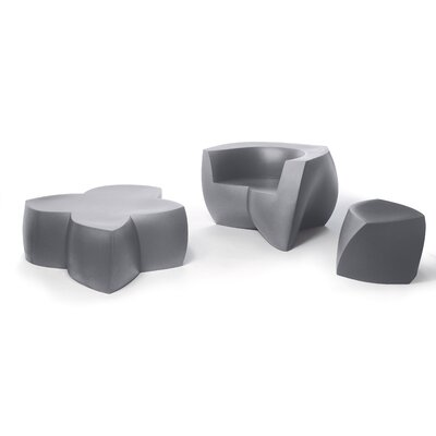 Frank Gehry Barrel Chair Upholstery: Silver/Grey