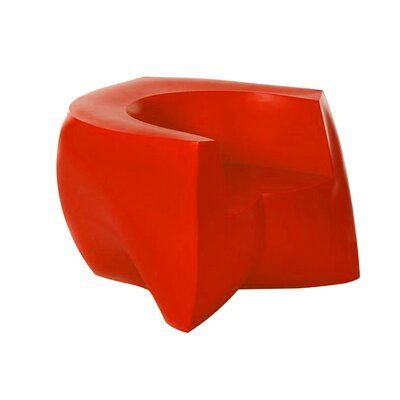 Frank Gehry Barrel Chair Upholstery: Red