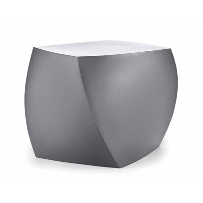 Frank Gehry Right Twist Cube Ottoman Upholstery: Silver Grey