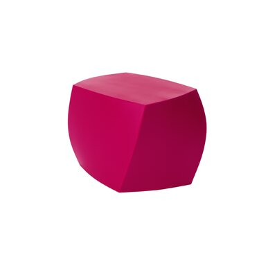 Frank Gehry Left Twist Cube Ottoman Upholstery: Magenta