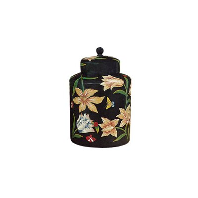 Hand Painted The Garden Porcelain Canister