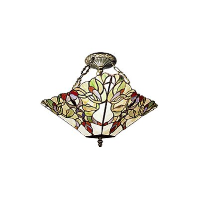 Art Nouveau 2-Light Semi Flush Mount