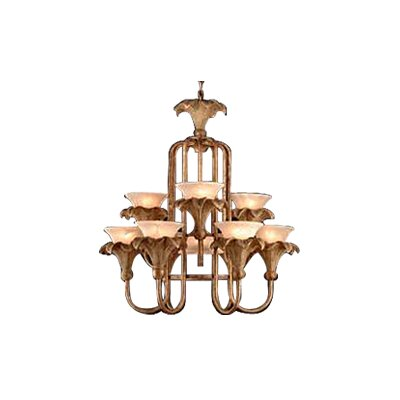 10-Light Shaded Chandelier