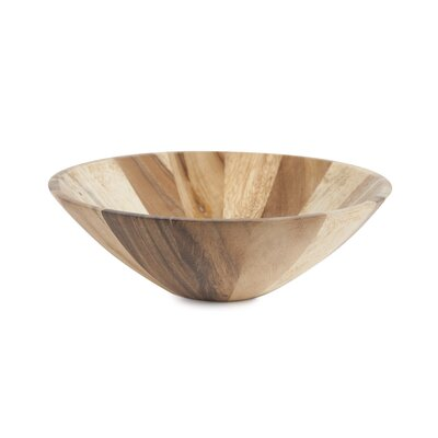 Natural Acacia Centerpiece Bowl