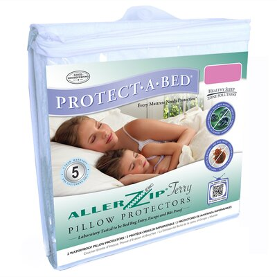 Aller Zip Anti-Allergy & Bed Bug Proof Pillow Encasement Size: Queen