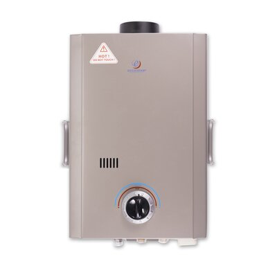 Eccotemp 1.7 GPM Portable Liquid Propane Tankless Water Heater with Flojet Pump and Strainer L7 Pump/Strainer