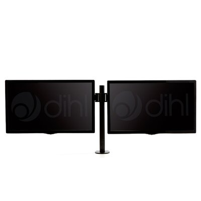 "Double Articulating/Extending Arm Desktop Mount for 13""-27"" Flat Panel Scree"