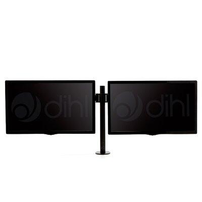 "Double Articulating/Extending Arm Desktop Mount for 13""-27"" Flat Panel Scree"