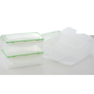 Al Dente 4 Piece Plastic Food Storage Container Set 41002