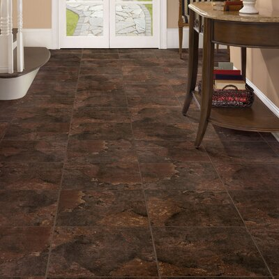 Duraceramic Rustic Stone 16 x 16 x 4.06mm Luxury Vinyl Tile in Brown Earth