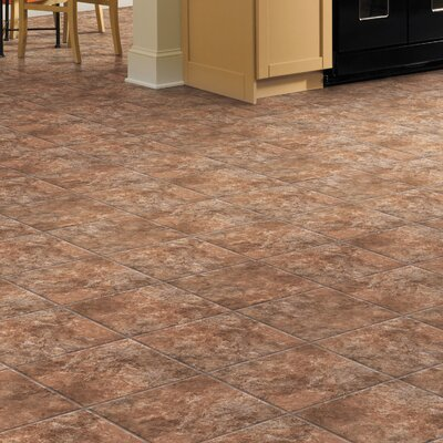 Ovations Textured Slate 14 x 14 x 3.56mm Luxury Vinyl Tile in Clay