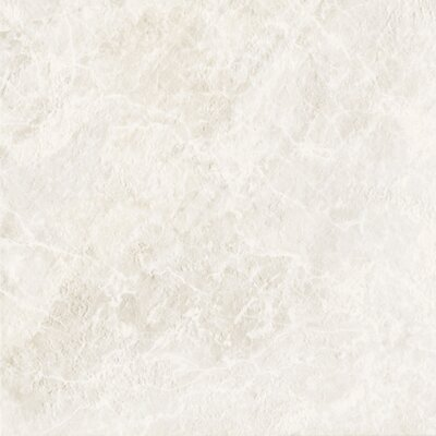 "DuraCeramic 15-5/8"" x 15-5/8"" Pacific Marble Vinyl Tile in Pure White"