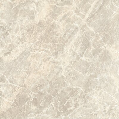 "DuraCeramic 15-5/8"" x 15-5/8"" Pacific Marble Vinyl Tile in Light Greige"