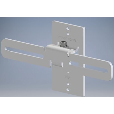 Universal Center Channel Mount Color: White