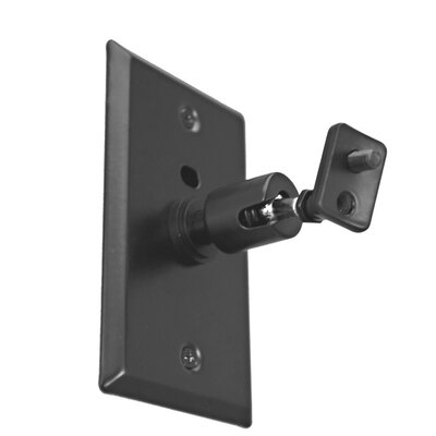 Universal Speaker Wall/Ceiling Mount with Electrical Box Installation Adapter Plate in Black