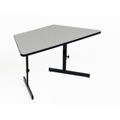 Height Adjustable Training Table with Modesty Panel Tabletop Finish: Gray Granite