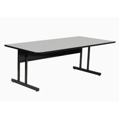 Height Adjustable Training Table with Modesty Panel Size: 30 H x 60 W x 29 D