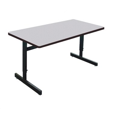 Height Adjustable Training Table with Modesty Panel Size: 29 H x 60 W x 24 D