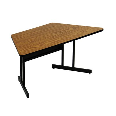 60 W Height Adjustable Training Table with Modesty Panel Tabletop Finish: Medium Oak
