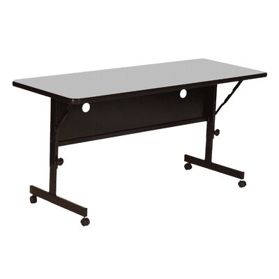 Flipper Training Table with Modesty Panel Size: 48 W, Tabletop Finish: Gray Granite