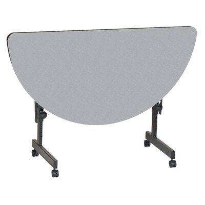 48 W Flipper Height Adjustable Training Table with Wheels Tabletop Finish: Gray Granite