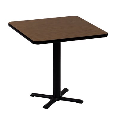High Square Bar and Caf� Table Size: 42 Square, Color: Walnut