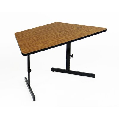 Height Adjustable Training Table with Modesty Panel Tabletop Finish: Medium Oak