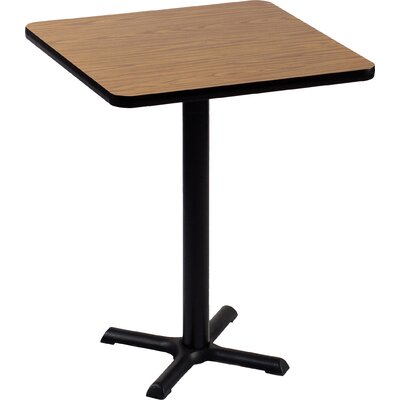 High Square Bar and Caf� Table Size: 42 Square, Color: Black Granite
