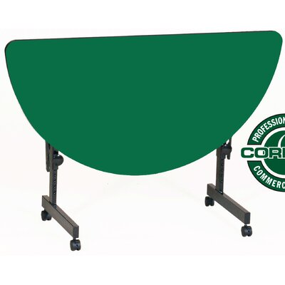 48 W Flipper Height Adjustable Training Table with Modesty Panel Tabletop Finish: Green