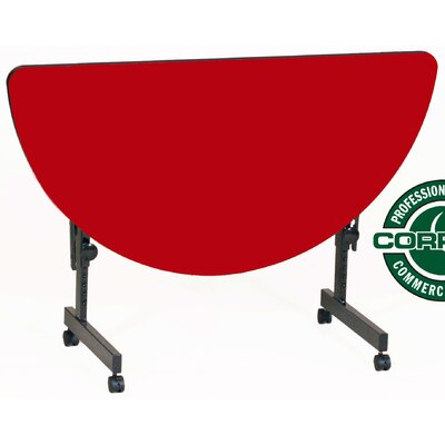 48 W Flipper Height Adjustable Training Table with Modesty Panel Tabletop Finish: Red