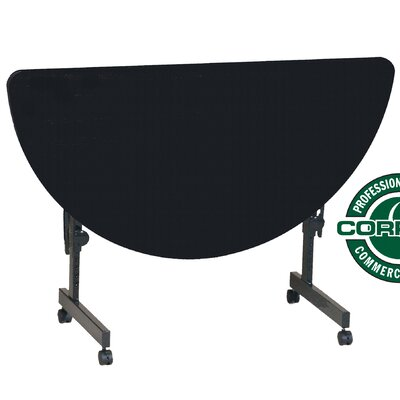 48 W Flipper Height Adjustable Training Table with Modesty Panel Tabletop Finish: Black Granite