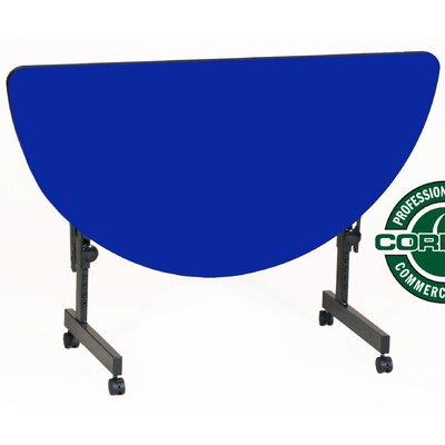 48 W Flipper Height Adjustable Training Table with Modesty Panel Tabletop Finish: Blue