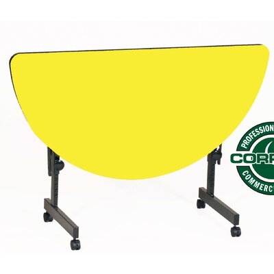 48 W Flipper Height Adjustable Training Table with Modesty Panel Tabletop Finish: Yellow