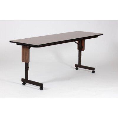 "Correll, Inc. Rectangular Folding Table - Finish: Medium Oak, Size: 60"" W x 24"" D"