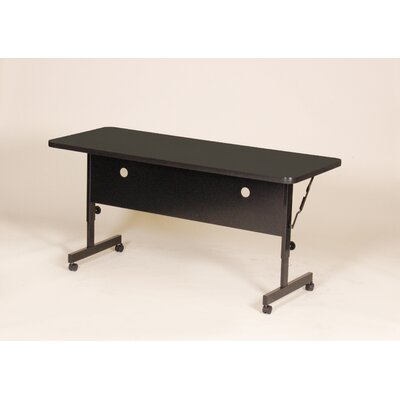 Flipper Training Table with Modesty Panel Size: 72 W, Tabletop Finish: Black Granite