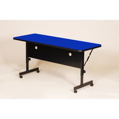 Flipper Training Table with Modesty Panel Tabletop Finish: Blue, Size: 72 W