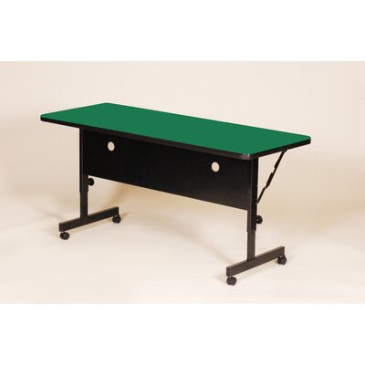 Flipper Training Table with Modesty Panel Size: 48 W, Tabletop Finish: Green