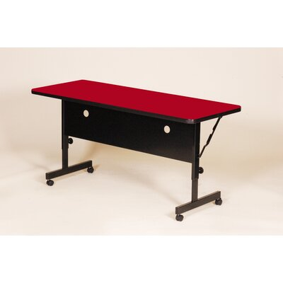 Flipper Training Table with Modesty Panel Size: 72 W, Tabletop Finish: Red