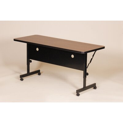 Flipper Training Table with Modesty Panel Size: 48 W, Tabletop Finish: Walnut