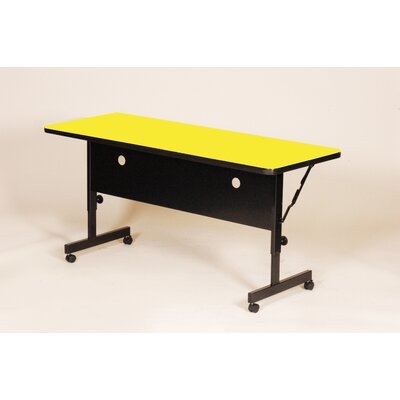 Flipper Training Table with Modesty Panel Size: 60 W, Tabletop Finish: Yellow
