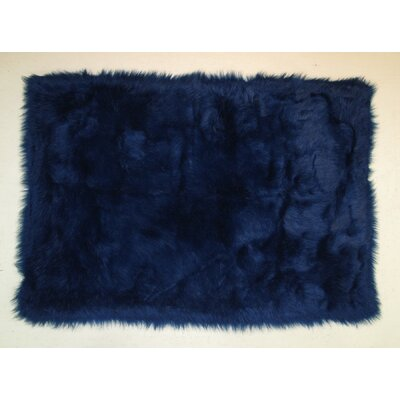 Dark Blue Kids Rug Rug Size: 27 x 311