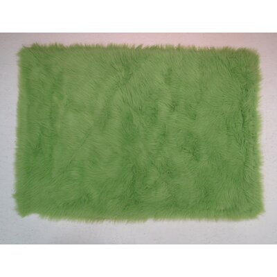 Lime Green Kids Rug Rug Size: 27 x 311