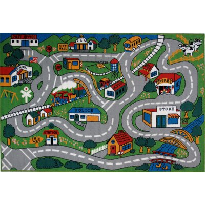 Fun Time Country Fun Kids Rug Rug Size: 8 x 11