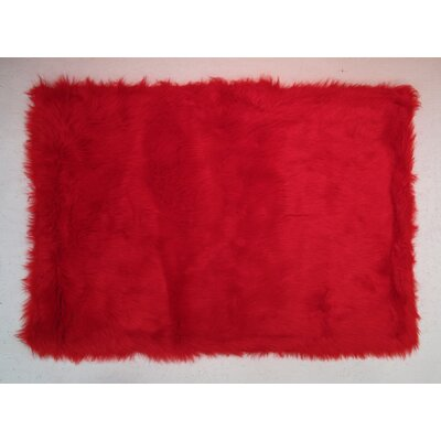 Red Kids Rug Rug Size: 27 x 311