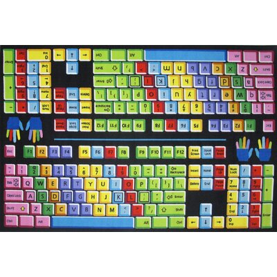 Fun Time Keyboard Kids Rug Rug Size: 53 x 76
