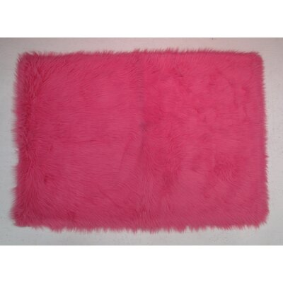 Hot Pink Kids Rug Rug Size: 27 x 311