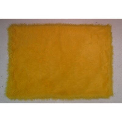 Yellow Kids Rug Rug Size: 33 x 410